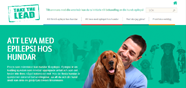 Websida för epilepsi hos hund